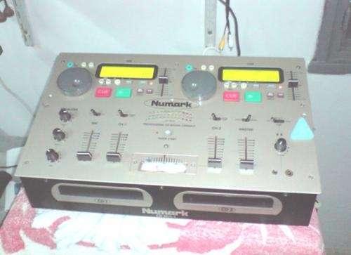 Cd mix dj numark (compactera doble + consola)