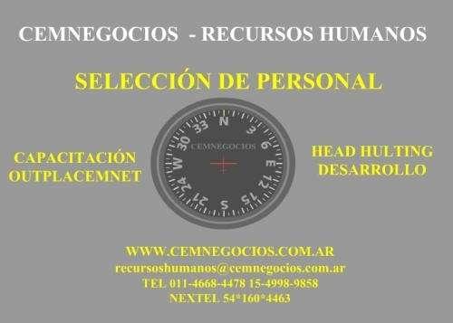 Seleccion de personal - recursos humanos