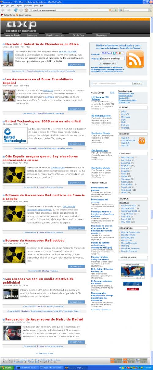 Ascensores xp. blog de noticias.