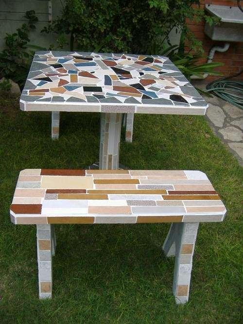 Mesas y bancos para jardin...!!!