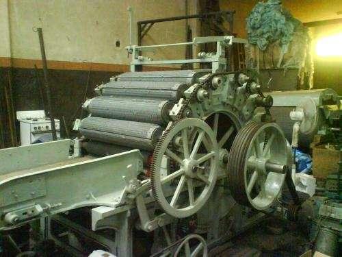 Maquina desfibriladora textil tipo diablo