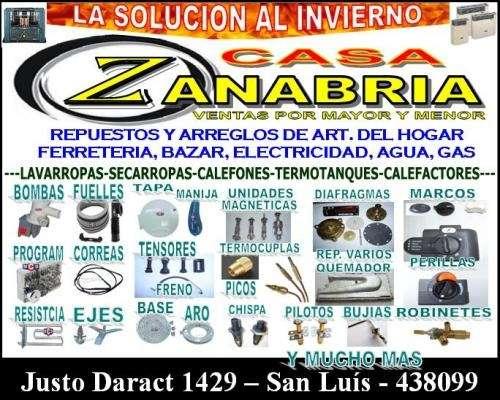 Casa zanabria - calefaccion - refrigeracion - labarropas