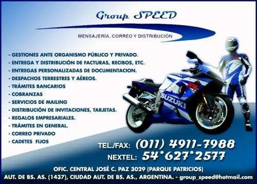 **group speed** mensajeria, correo y distribucion