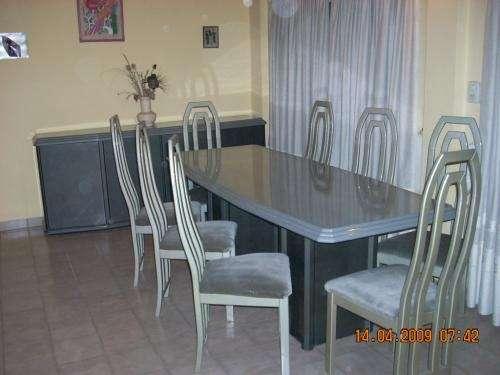 Vendo juego de comedor ( mesa laqueada, 8 sillas, vajillero) en ...