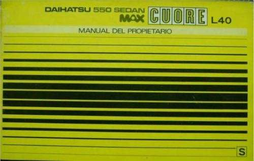 Manuales daihatsu max cuore 1980 - buenos aires