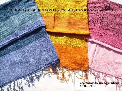 Fotos de Pashminas de algodón lisas y estampadas con flecos para revendedores!!! 3