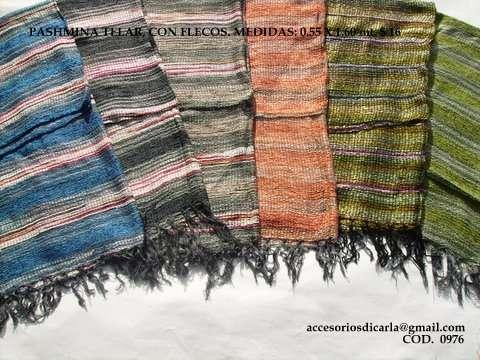 Fotos de Pashminas de algodón lisas y estampadas con flecos para revendedores!!! 4