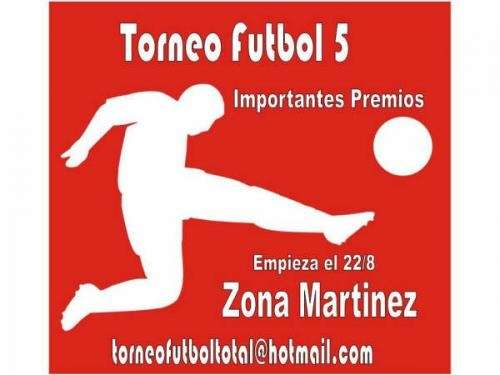 Torneo futbol 5 zona norte