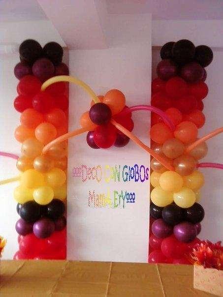 Decoraciones con globos mamá ery