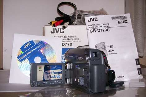 Vendo filmadora jvc 770. impecable!!! muy poco uso.
