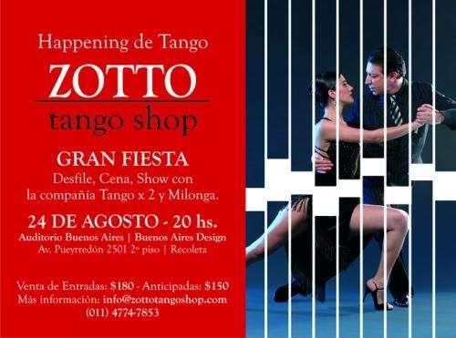 Zotto tango shop - 24 de agosto inauguración