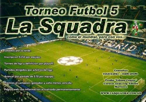 Torneo futbol 5 - martinez - zona norte