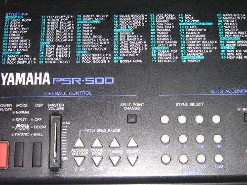 Vendo teclado yamaha psr-500 (pie,pedal,transf,funda)