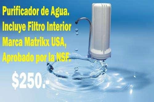 Purificador de agua sobremesada - filtro recambiable