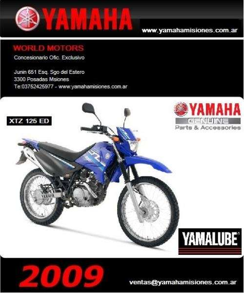 Yamaha xtz 125 2009-0km