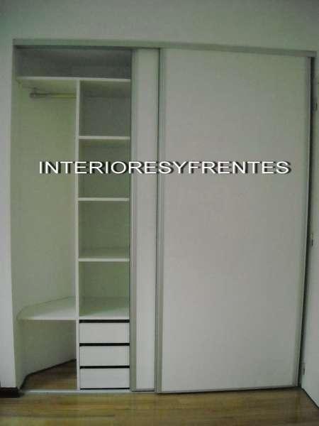 Interiores y frentes placard a medida