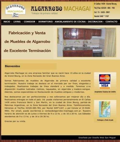 Algarrobo machagai | fabricación y venta de muebles de algarrobo | entregas a todo el país | grand bourg, buenos aires
