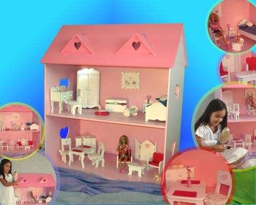 Casa de muñecas barbie laqueadas