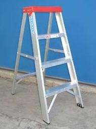 Escalera de aluminio tijera familiar 1.00 mts. 4 escalones