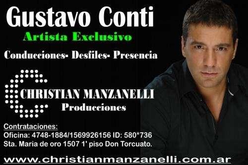 Contratar a gustavo conti, manager christian manzanelli.
