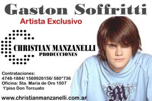 Contratar a gaston soffritti, manager christian manzanelli.