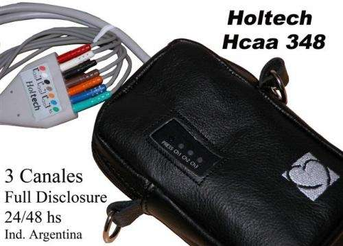 Holtech - holter cardiaco digital - 3 canales - 24 / 48 horas ind arg !