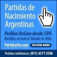 Partidas de nacimiento capital federal con partidasya.com