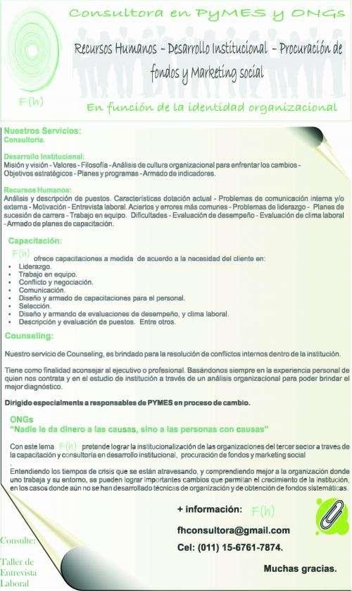 Consultoría para pymes y ongs