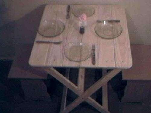 Mesas y sillas plegables mauri