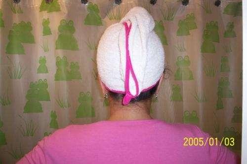 Turbantes de toalla para secar el cabello