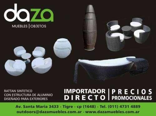 muebles de rattan sintetico para exteriores en Buenos Aires