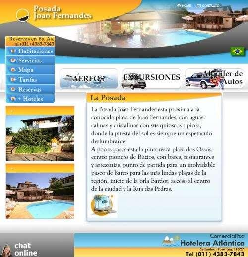 Hoteles en buzios posada joao fernandez reservas al (011) 43837843