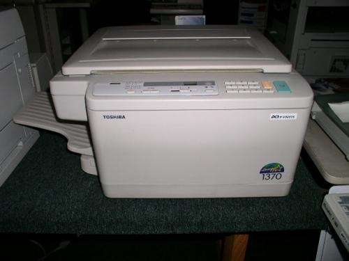 Fotocopiadora toshiba 1370 hi tec.