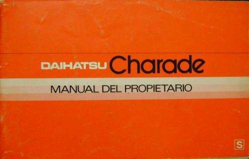 Manual daihatsu charade 1980