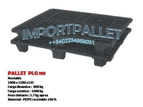 Pallets plasticos p/ exportaciones y piso