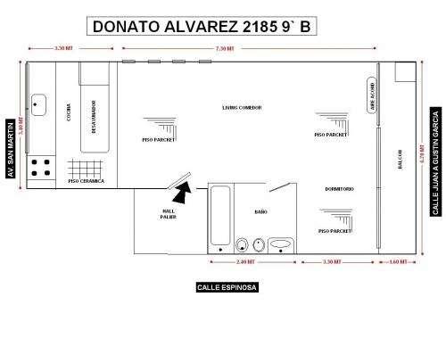 Departamento semi-piso 3 amb como a estrenar 46m2 a la calle