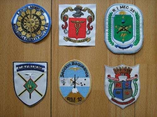 Escudos militares bordados, insigneas de grado bordadas