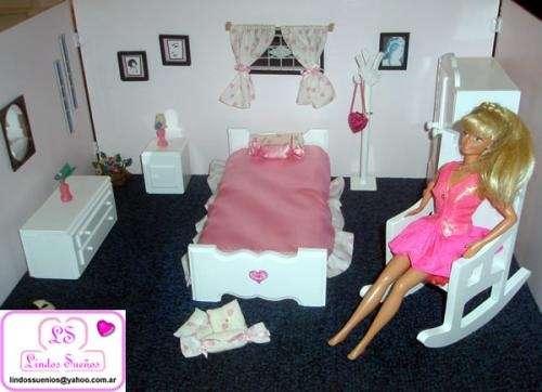Muebles para casa de muñeca barbie