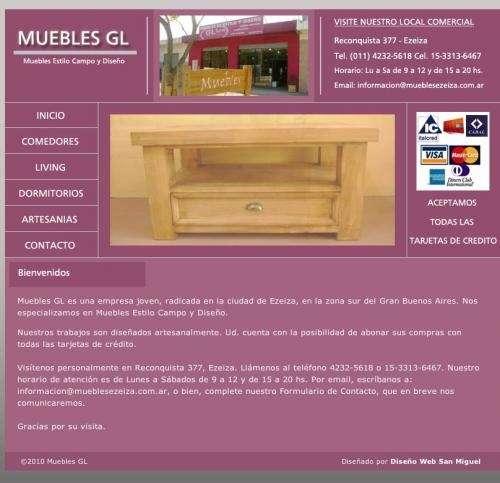 Muebles gl | muebles estilo campo y de diseño | ezeiza ? canning | buenos aires
