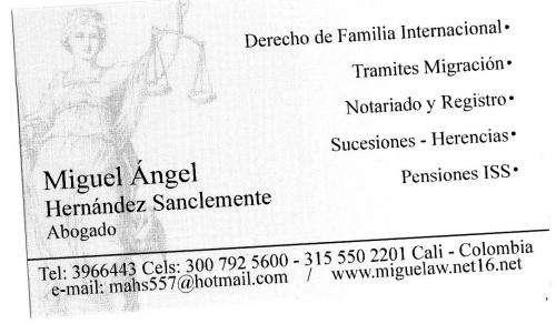 Colombia : divorcios express y otros tramites legales