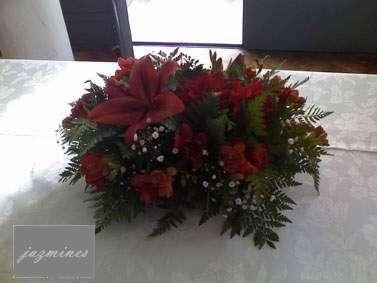 Arreglos florales, centros de mesas, ambientaciones