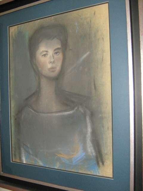 """""""retrato de la princesa soraya,circa 1950""""por alexander rutsch (1916-1997)"""