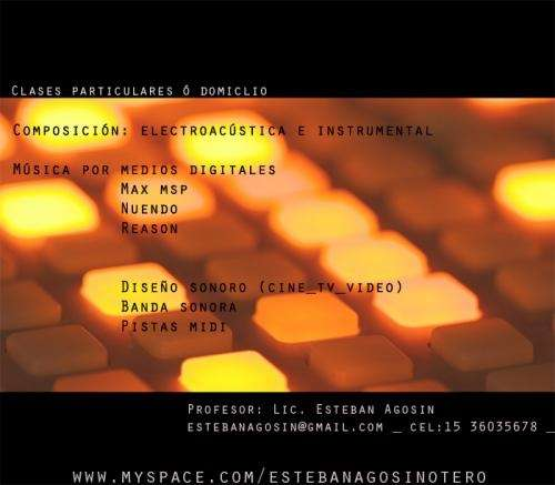 Clases de composición instrumental y medios electrónicos