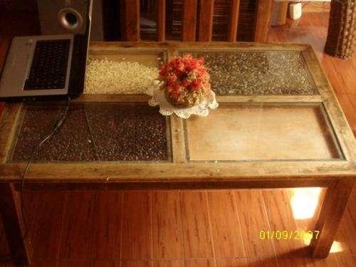 Vendo mesa ratona cerealera color nogal