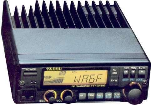 Radio yaesu ft -2400h fm tranceiver vhf fm + fuente zurich df 1763