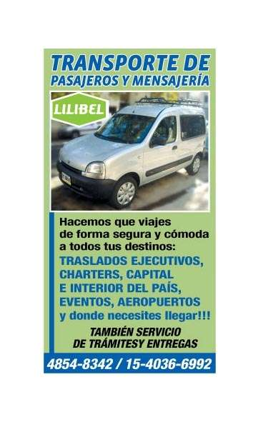 Transporte de personas y mensajeria-we speak english