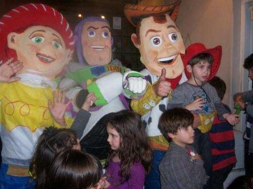 Show de toy story, personajes jessie, woody, buzz