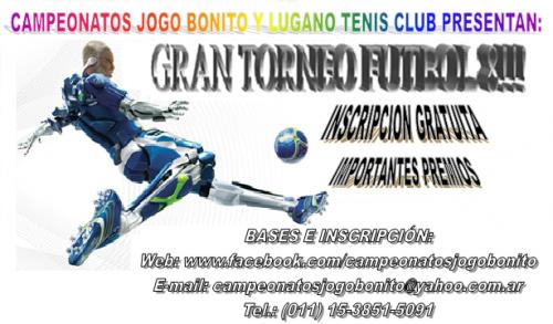 Gran torneo futbol 8!!!