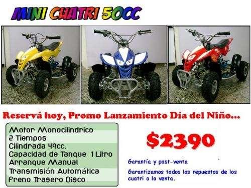 Mini cuatriciclos 50 cc rosario - funes - importador directo - mayor -menor