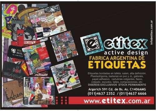 Fotos de Etitex  fab arg de etiquetas y escudos 2